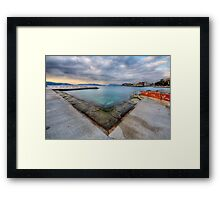 Clouds over Toulon Framed Print