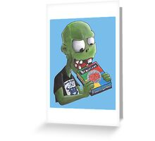 Brainium a Game for Zombies!!!! Greeting Card