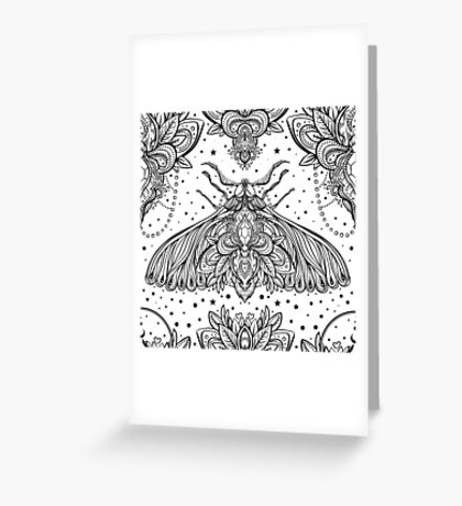 Night Moth Greeting Card