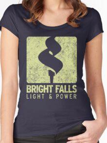 Bright Falls Light & Power (Alt.) (Grunge) Women's Fitted Scoop T-Shirt