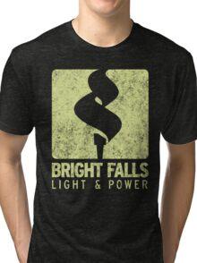 Bright Falls Light & Power (Alt.) (Grunge) Tri-blend T-Shirt
