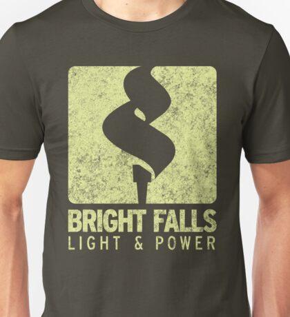 Bright Falls Light & Power (Alt.) (Grunge) Unisex T-Shirt