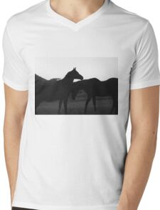 Two Beautiful Horses Mens V-Neck T-Shirt