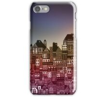 Graphic design city with fading colors iPhone Case/Skin