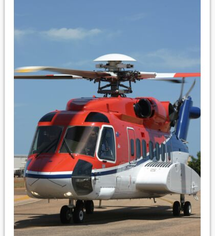 Helicopter Sikorsky S91 taxiing #1 Sticker