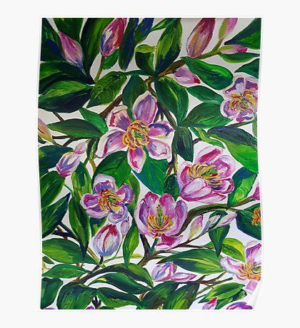 Portwine Magnolias Poster