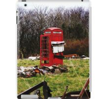 The Red Telephone Box in the Woods iPad Case/Skin