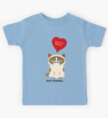 Grumpy Cat Love Is In The Air Kids Tee