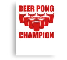 Beer Pong Champion Canvas Print