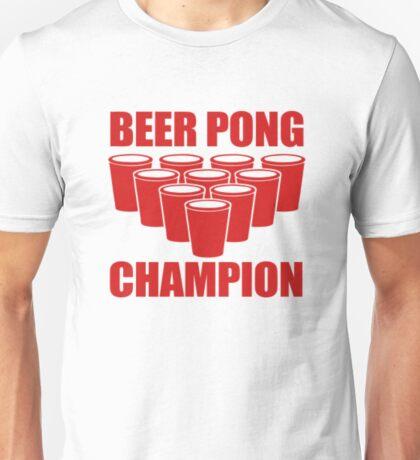 Beer Pong Champion Unisex T-Shirt