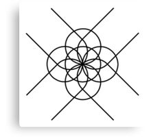 The Geometry of Tangent Curves and Circles Canvas Print