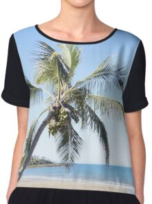 Palm by the Ocean Chiffon Top