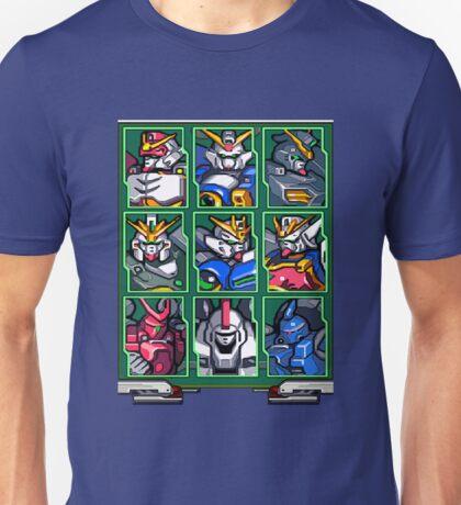 Gundam Wing Mecha Select Unisex T-Shirt