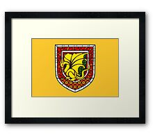 Stained Glass Pendragon Crest Framed Print