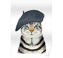 Charming French Cat  Poster
