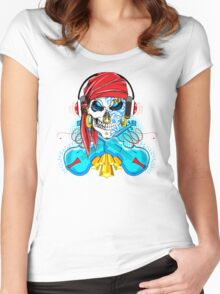 Dueling Fiddles; Skulling Series Women's Fitted Scoop T-Shirt