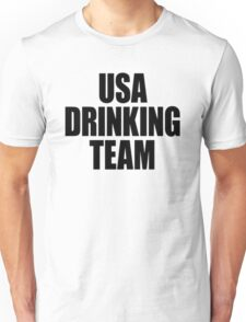 USA Drinking Team [Black] Unisex T-Shirt