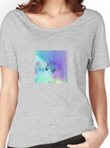 Blue Zebra Dreaming Women's Relaxed Fit T-Shirt