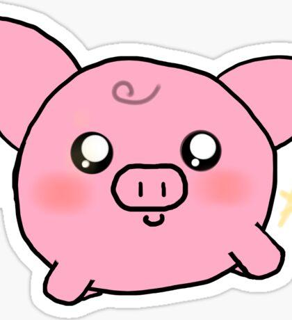 Kawaii Fat Piggy  Sticker