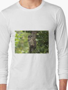 Good Morning Barred Owl Long Sleeve T-Shirt