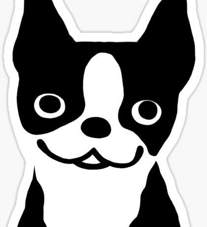 Boston Terrier Smiling Face Sticker