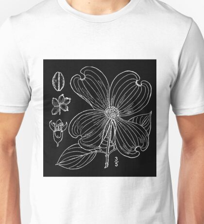 Britton And Brown Illustrated flora of the northern states and Canada 0466 Cornus florida BrittonBrown Unisex T-Shirt