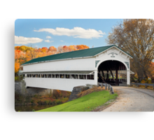Covered Bridge at Westport Canvas Print