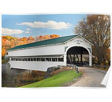 Covered Bridge at Westport Poster