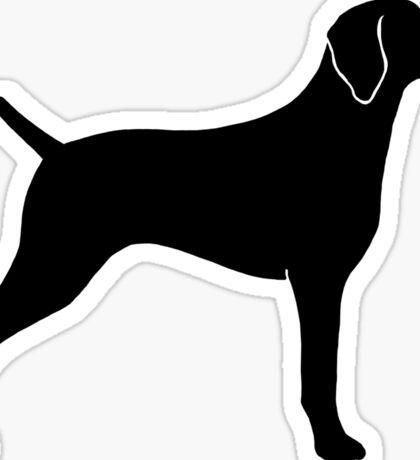 Weimaraner Silhouette Sticker