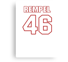 NFL Player Chad Rempel fortysix 46 Canvas Print