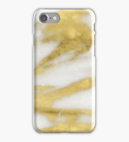 Marble - Gold Marble on White Pattern iPhone Case/Skin