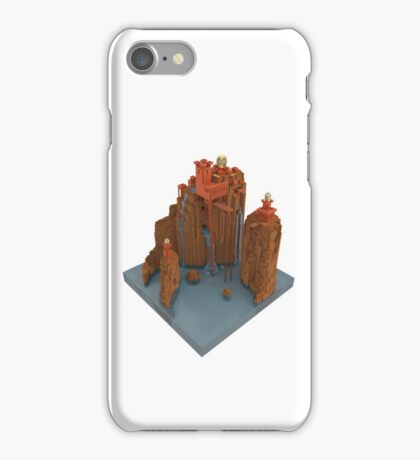 Voxel Cliffside City iPhone Case/Skin