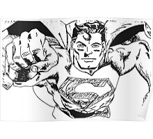 Super Man in Ink Poster