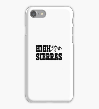 High Sierras Ringer Vintage 70s 80s Retro Graphic Mountain Camping Outdoors iPhone Case/Skin