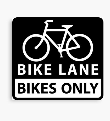 Bike Lane Canvas Print
