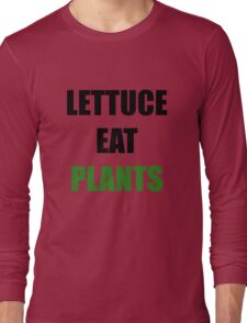 Funny Vegan Design Long Sleeve T-Shirt