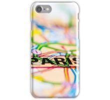 Close-up on Paris city on map, travel destination concept iPhone Case/Skin