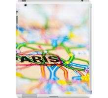Close-up on Paris city on map, travel destination concept iPad Case/Skin