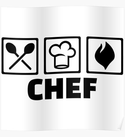 Chef Funny Chef Shirts Poster