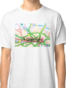 Close-up on London city on map, travel destination concept Classic T-Shirt