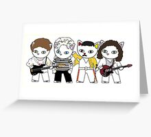 Meow rock band Greeting Card