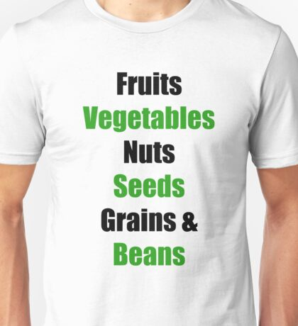 Vegan Food Groups Pyramid Unisex T-Shirt
