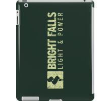Bright Falls Light & Power (Grunge) iPad Case/Skin