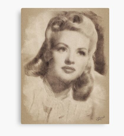 Betty Grable, Vintage Hollywood Actress and Pinup Canvas Print
