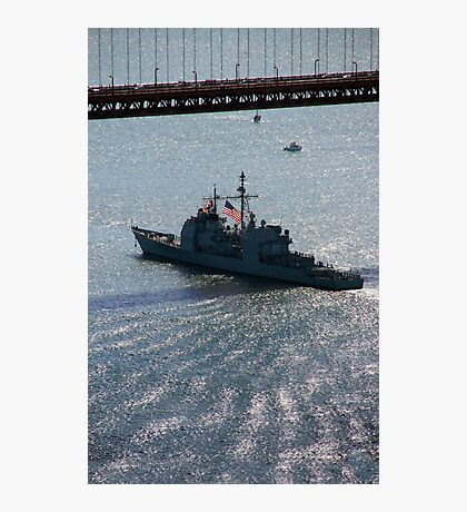 USS Mobile Bay (CG 53), Ticonderoga class guided-missile cruiser Photographic Print