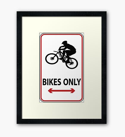 MTB up Framed Print
