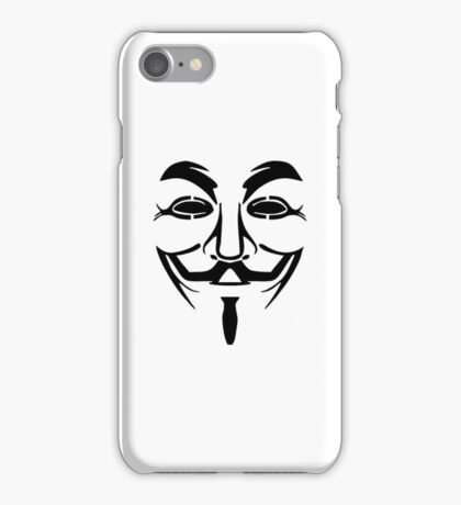 Anonymous Face iPhone Case/Skin