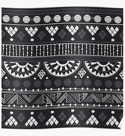 Black-White Ethno Pattern Poster