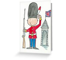 Saluting Guardsman on Sentry Duty  Greeting Card