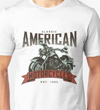 Classic American Motorcycles Established 1903 Unisex T-Shirt